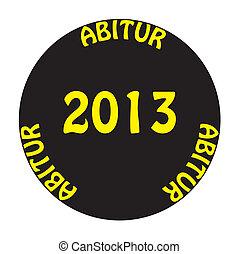 ABITUR 2013 yellow on black