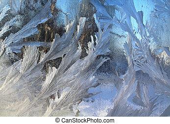 ablak, jég