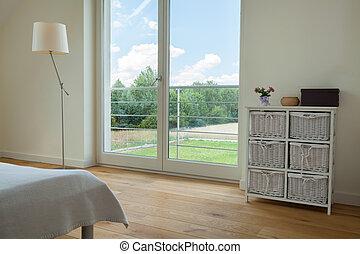 ablak, tágas, hálószoba