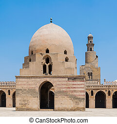 Ablution fountain and minaret of Ibn Tulun historic mosque, Old