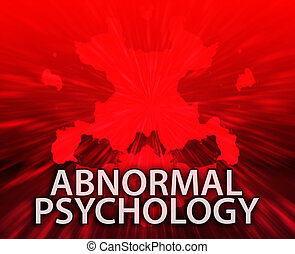 Abnormal psychology inkblot background