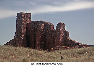 Abo Ruins of New Mexico - These are the ruins of San...