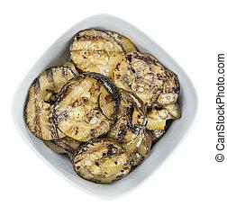 abobrinhas, (grilled), (isolated, ligado, branco)