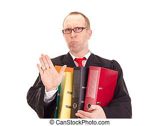 abogado, con, mucho, de, trabajo