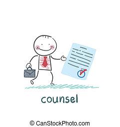 abogado, documento, exposiciones
