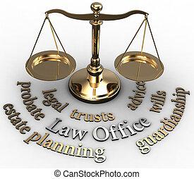abogado, escala, propiedad, voluntades, palabras, validación...