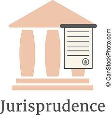 abogado, griego, logotype, columnata