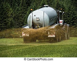 abono, campo,  bauer,  fertilizes