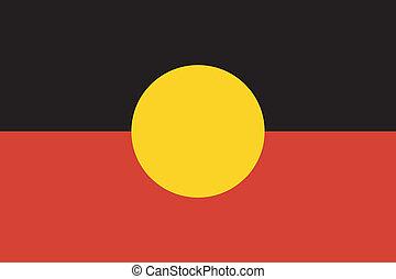 aborigen, bandera de australia