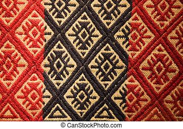 aborigeno, vecchio, tapestry.