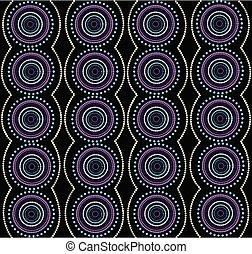 aborigeno, vettore, arte, fondo