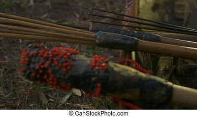 Aboriginal Ancient Tools at a forest, Qld Island - Extreme...