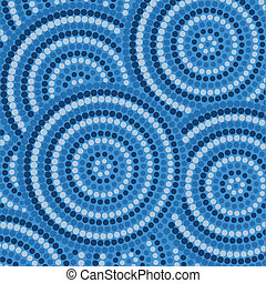 Aboriginal Art - Abstract Aboriginal dot painting in vector ...