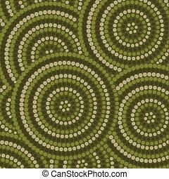 Aboriginal Art - Abstract Aboriginal dot painting in vector...