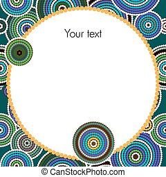 Aboriginal art vector background - Aboriginal dots and...
