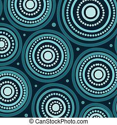 Aboriginal art vector seamless background.