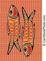 Aboriginal arts. - Aboriginal arts, fishes.