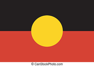 aboriginal, australië vlag