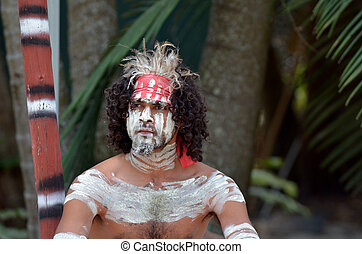 Aboriginal culture show in Queensland Australia - Portrait ...