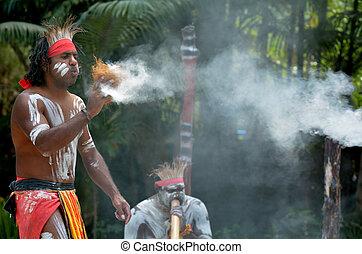 Aboriginal culture show in Queensland Australia - Yugambeh...