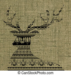 aboriginal deer pattern