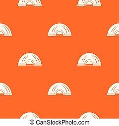 Aboriginal dwelling pattern vector orange for any web design...