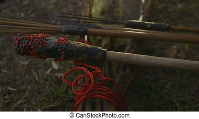 Aboriginal Fishing Gears, Qld Island - Extreme close-up...