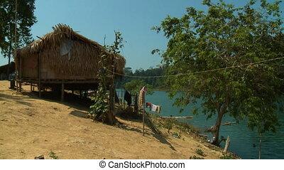 Aboriginal Lake Hut, Temenggor, Belum, Malaysia - Medium...