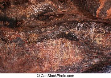 Aboriginal paintings - Beautiful ancient aboriginal drawings...