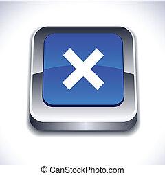 Abort 3d button. - Abort metallic 3d vibrant square icon. .