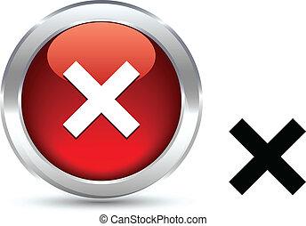 Abort realistic button. Vector illustration.