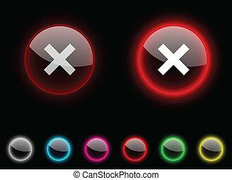 Abort button.