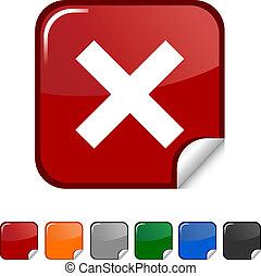 Abort icon. - Abort sticker icon. Vector illustration. .