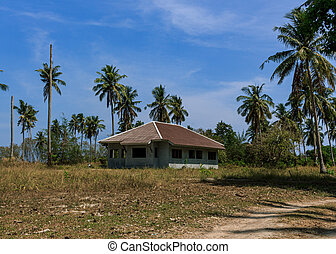 Abounded house in dry place