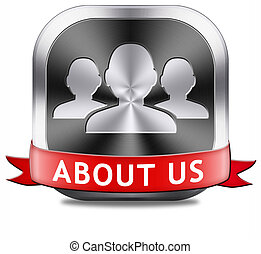 about us - About us button our business or working team ...