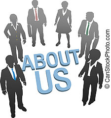 About Us company website people icon - Business people on ...