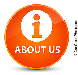 About us elegant orange round button