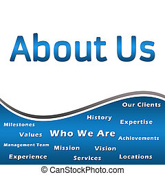 About Us - Heading and Keywords - B - An image with About Us...
