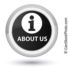 About us prime black round button