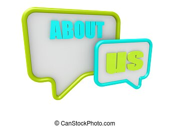 About us - Rendered artwork with white background