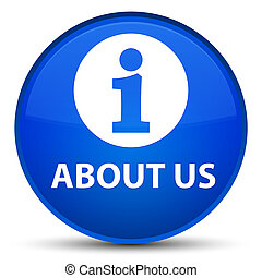 About us special blue round button