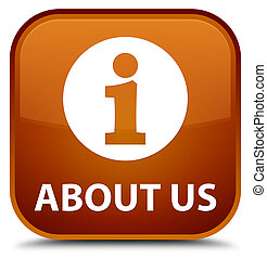 About us special brown square button