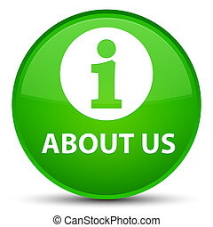 About us special green round button
