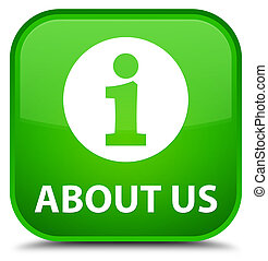 About us special green square button