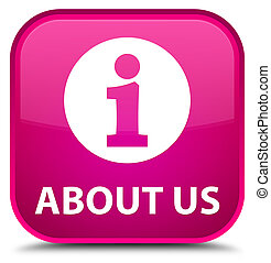 About us special pink square button