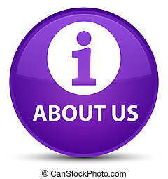 About us special purple round button