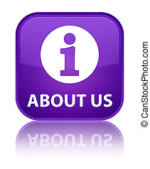 About us special purple square button