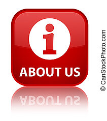 About us special red square button