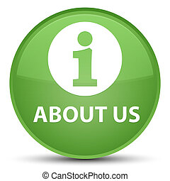 About us special soft green round button