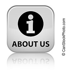 About us special white square button